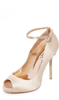 Badgley Mischka Diego Ankle Strap Pumps