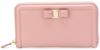 Salvatore Ferragamo zip around bow wallet