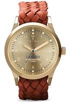 Triwa Lansen Braided Leather Strap Watch, 38mm