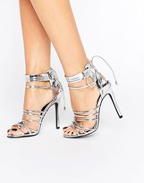 Missguided Metallic Strappy Heeled Gladiators