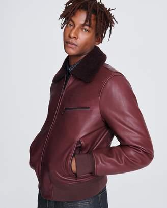 Rag & Bone Leather flight jacket