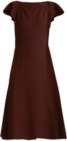 Bottega Veneta Boat-neck wool-crepe midi dress