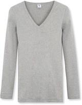 Petit Bateau Womens long-sleeved V-neck tee