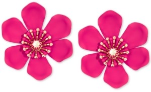 Zenzii Gold-Tone & Suede-Painted-Finish Lily Statement Earrings
