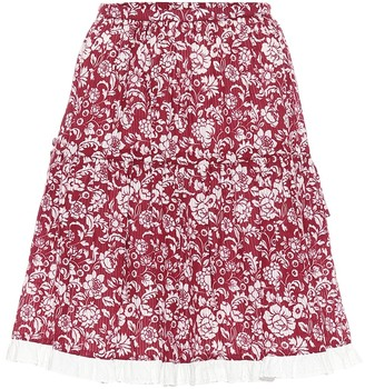 See by Chloe High-rise floral cotton miniskirt