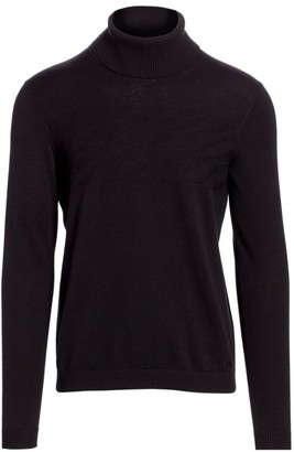 HUGO Sisealono Slim-Fit Wool-Blend Turtleneck Sweater