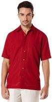 "Cubavera Short Sleeve Embroidered ""L"" Shape"