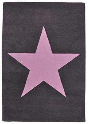 Lorena Canals Wool Rug Star (Dark Grey/Pink)