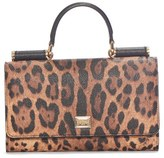 Dolce & Gabbana Women's 'Crespo' Leopard Print Phone Wallet - Brown