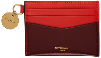 Givenchy Red and Burgundy Edge Card Holder