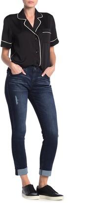 Democracy Cuffed High Waisted Skinny Jeans