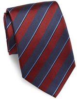 Giorgio Armani Two-Toned Striped Silk Tie