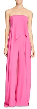 Halston Strapless Skirted Jumpsuit