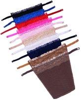 Flyou 10pcs Lady Lace Clip-on Mock Camisole Bra Insert Overlay Modesty Panel vest