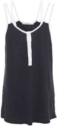 Stateside Draped Slub Linen And Cotton-blend Jersey Tank