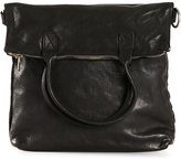 Guidi distressed leather shoulder bag