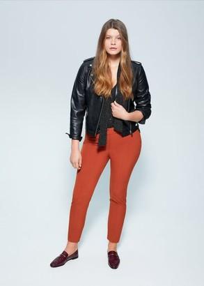MANGO Violeta BY Bow printed blouse black - 10 - Plus sizes