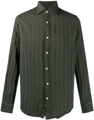 Deperlu William striped cotton shirt
