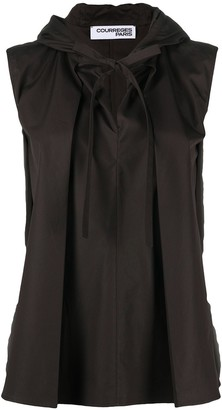 Courreges Hooded Flared-Style Top