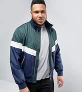 Asos Plus Zip Through Track Jacket With Colourblock Detail