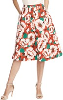 Draper James Amaryllis Floral Skirt
