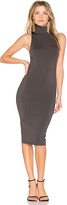 Central Park West Atlantis Bodycon Midi Dress in Gray. - size S (also in XS)