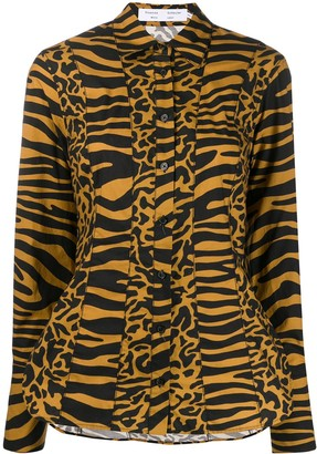 Proenza Schouler White Label Tiger Print Shirt