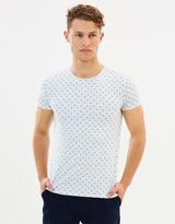 Scotch & Soda Printed Stretch Cotton T-Shirt