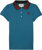 Gucci Web stripe cotton polo shirt 4-12 years