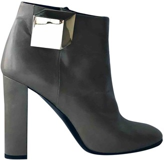 Pierre Hardy Khaki Leather Ankle boots