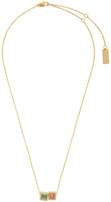 Marc Jacobs Gold The Toy Blocks Pendant Necklace