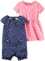 Carter's 2 Pack Dress Set - Pink Polka Dot/Floral - 9 Months