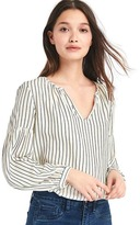 Gap Split-neck long sleeve blouse