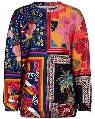 Farm Rio Mixed Scarves Sweatshirt