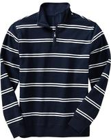 Old Navy Men's Striped 1/4-Zip Mock-Neck Pullovers