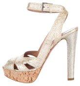 Alaia Metallic Platform Sandals