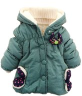 TRURENDI Baby Cute Girls Boys Kids Bea Cat Polka Dot Hoodie Outwear Jacket Snowsuit