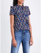 Sandro Paisley-pattern self-tie silk top