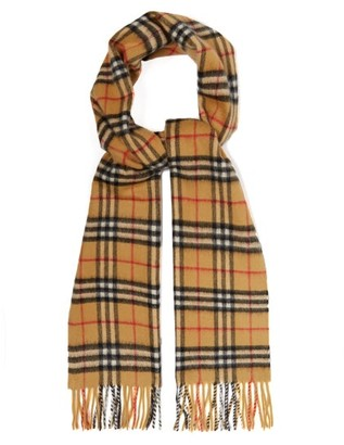 Burberry Vintage Check Brushed-cashmere Scarf - Womens - Beige Multi
