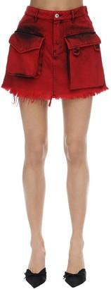 Marques Almeida Cotton Denim Mini Skirt