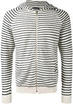 Roberto Collina striped hoodie - men - Cotton/Polyamide - 48