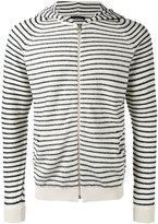 Roberto Collina striped hoodie - men - Cotton/Polyamide - 52