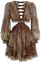 Zimmermann Tali Batik Cut Out Dress