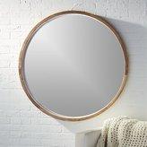"CB2 Acacia Wood 40"" Mirror"
