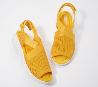 Ryka Adjustable Wedge Knit Sandals - Nerissa
