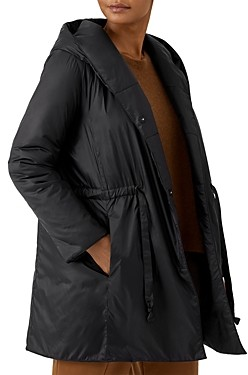 Eileen Fisher Hooded Long Coat
