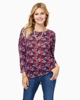 Charming charlie Rich Floral Long Sleeved Top