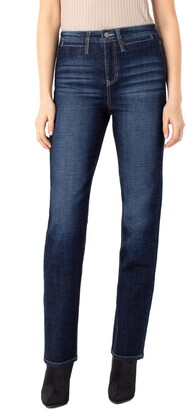 Liverpool Los Angeles Liverpool Sadie Welt Pocket High Waist Straight Leg Jeans