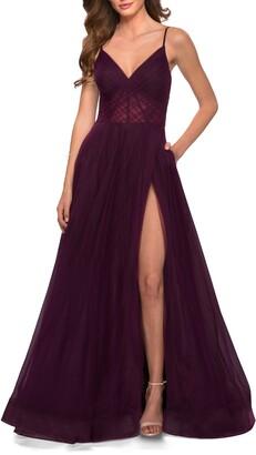 La Femme Illusion A-Line Tulle Ballgown
