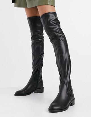 Aldo Araecia flat over the knee boots in black
